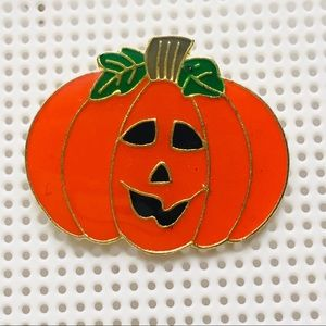 Halloween Pumpkin Enamel Lapel / Hat / Tie Pin